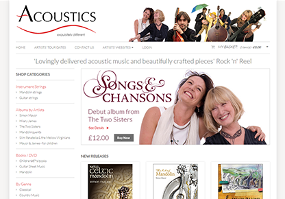 Acoustics Records Responsive Website Design and Development by ImageFile