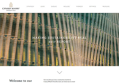 Canary Wharf Responsive Website and Development Design by Imagefile Ltd