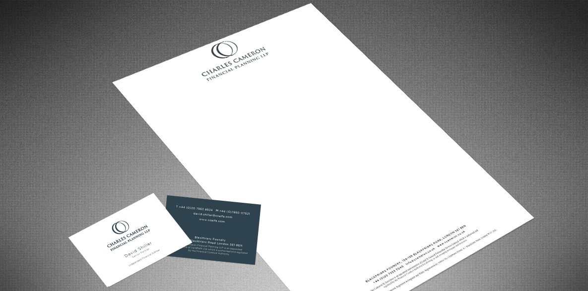 Charles Cameron Financial Services stationery