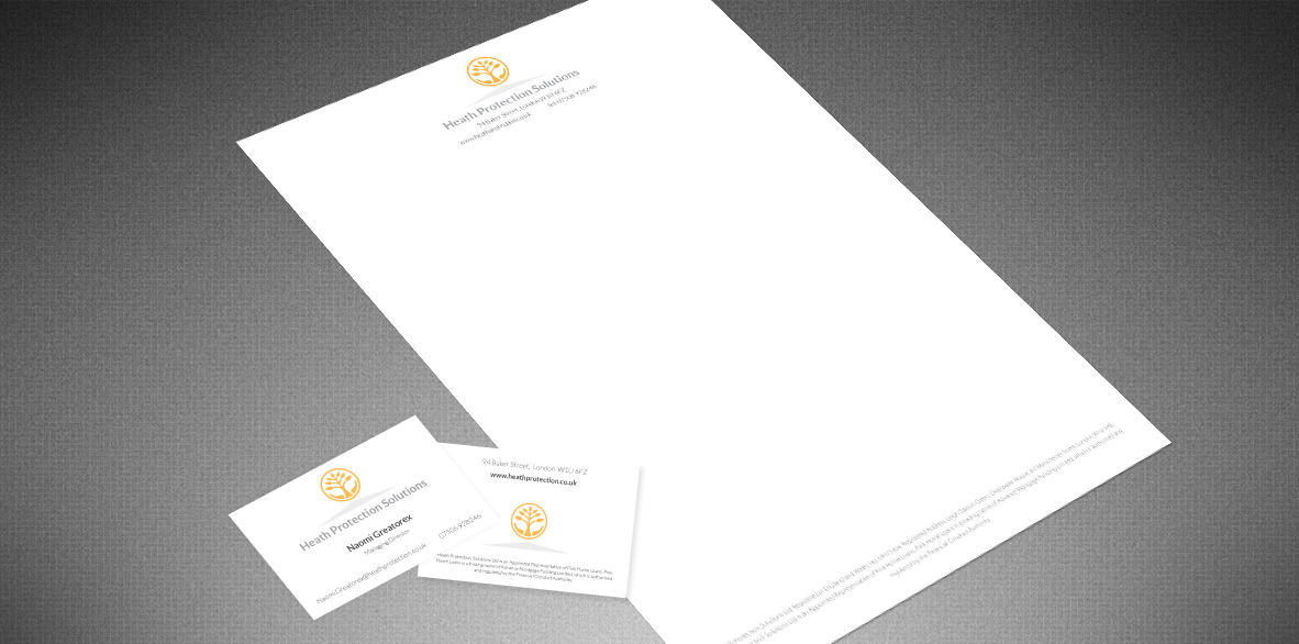 Heath Protection Solutions stationery