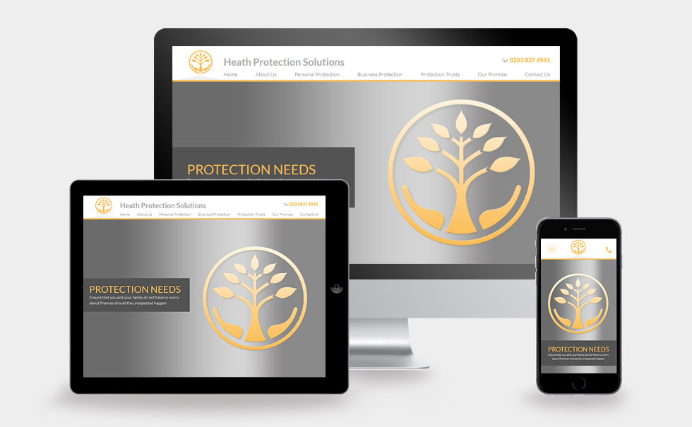 Heath Protection Solutions responsive website